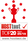 Top 20 - Hosttest 09 2019
